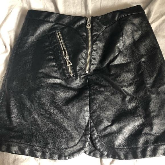 silence + noise Dresses & Skirts - leather biker skirt